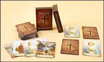 Adult Kid Sunday School Church Catholic Saint Pair Matching Fun Memory Card Game