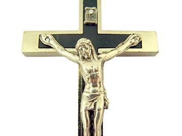 Rare Nuns Pectoral Cross Bones Crucifix Skull Bone Enamel Black Rosary Jesus
