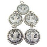 "Lot of 5 St Benedict 3/4"" Medal"