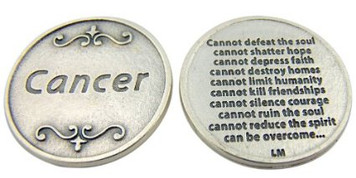 Cancer Cannot Defeat Pocket Token Keepsake Coin
