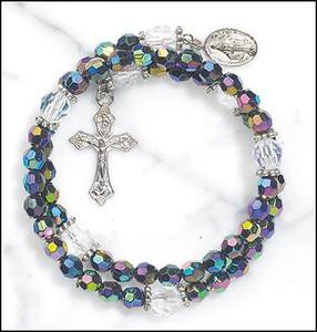 Purple Wrap Style Rosary Bracelet