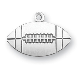 Sterling Silver Christ Football Athlete Medal