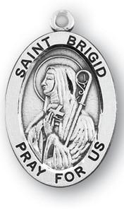 Sterling Silver Oval Shaped St. Brigid Medal
