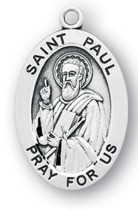 Sterling Silver Oval Shaped St. Paul Medal