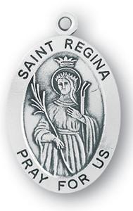 Sterling Silver Oval Shaped St. Regina Medal