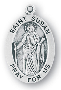 Sterling Silver Oval Shaped St. Susan Medal