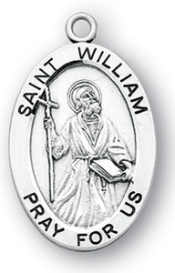 Sterling Silver Oval Shaped St. William Medal