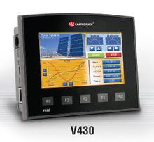 ** V430-J-T2 ** - 24VDC, 10 Digital Inputs, 3 shaft-encoder Inputs, 2 Analog/Digital Inputs, 12 Transistor Outputs, 1 built-in RS232/RS485 Port, CANbus and MODBUS