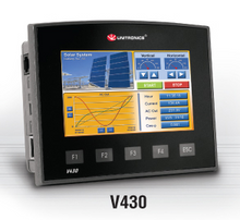 ** V430-J-TRA22 ** - 24VDC, 12 Digital Inputs, 1 HSC/shaft-encoder, 2 Analog/Digital Inputs, 2 Thermocouple/PT100 inputs, 4 Relay Outputs, 2 Analog Outputs, 4 pnp transistor Outputs, 1 built-in RS232/RS485 Port, CANbus and MODBUS