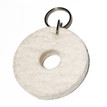 Felted Key Chains in White by Verso