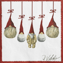 Napkins with Tomte/nisser from Nassgransgarden (Sweden)