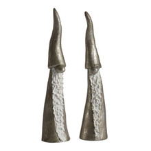 Set of 2 Tall Santas (Silver) from Naasgransgarden in Sweden.