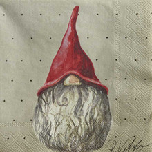 Napkins with Tomte Herman from Nassgransgarden (Sweden)