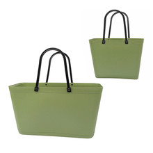 Sweden Green Bioplast Tote in Reed Green by Perstorp Design - Sweden