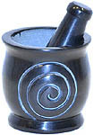 Mortar & Pestle, Soapstone: One Spiral