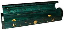 GREEN Coffin Incense Burner