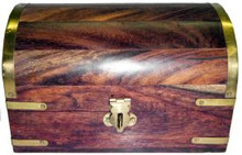 Wood Box: Large Treasure Chest, 4x6 inch