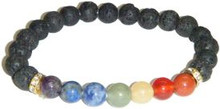 Seven Chakra Gems with Lava Beads