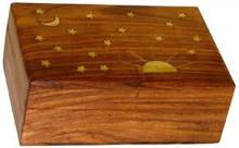 Wood Box: Sun & Stars 4x6 inch