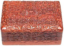 Wood Box: Flowers & Vines, 4x6 inches