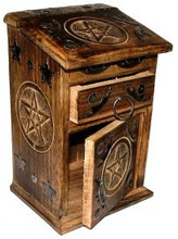 Tall Pentagram Herb Chest with drawer