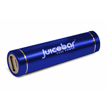 JUICEBAR POWERTUBE HIGH CAPACITY PORTABLE BATTERY CHARGER (2600 MAH) - BLUE