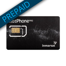 Inmarsat 250 Unit Prepaid SIM Card