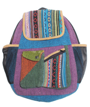 "G931 Mixed Cotton Backpack 15"" x 12"""