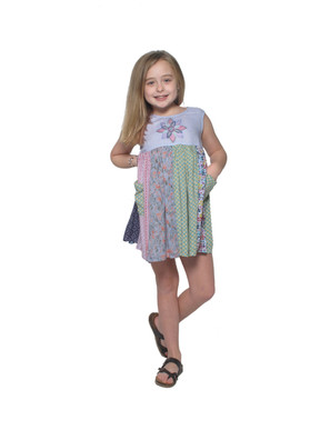 2032 Kid's Patchwork Panel Dress