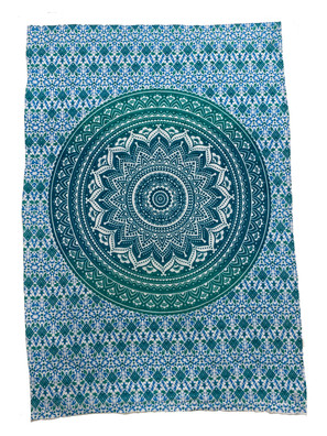 TCG13 Green Circle Small Tapestry