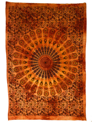TOC9 Orange Circle Small Tapestry