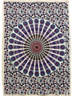 TOP10 Purple Mandala Small Tapestry
