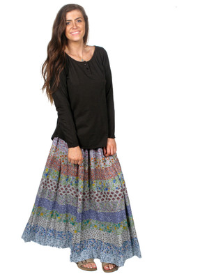 DR157 Tiered Panel Skirt