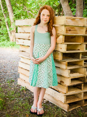 606 Inset Patchwork Kid's Dress