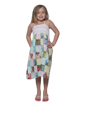 601 Geo Patch Kid's Dress