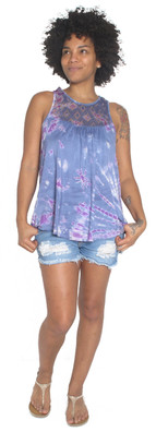 5969 Lace Accent Tank