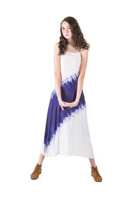 5827 Tie-Dye Burst Dress