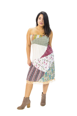 1308 Patchwork Tube Dress View