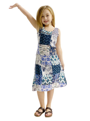1022 Square Patch Kids Dress