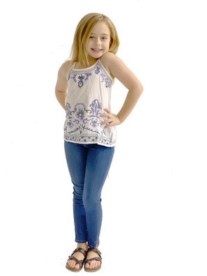 5647 Girls Embroidered Tank