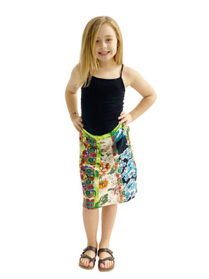 1025 Knit Patch Girls' Skirt