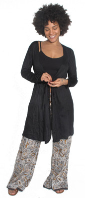 1544 Long Sleeve Wrap Dress