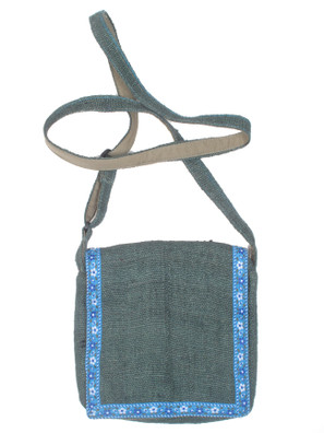 G609 Small Hemp Flap Bag