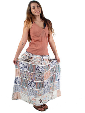 #1579 Seaside Patchwork Skirt