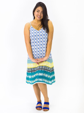 6191 Printed Short Dress