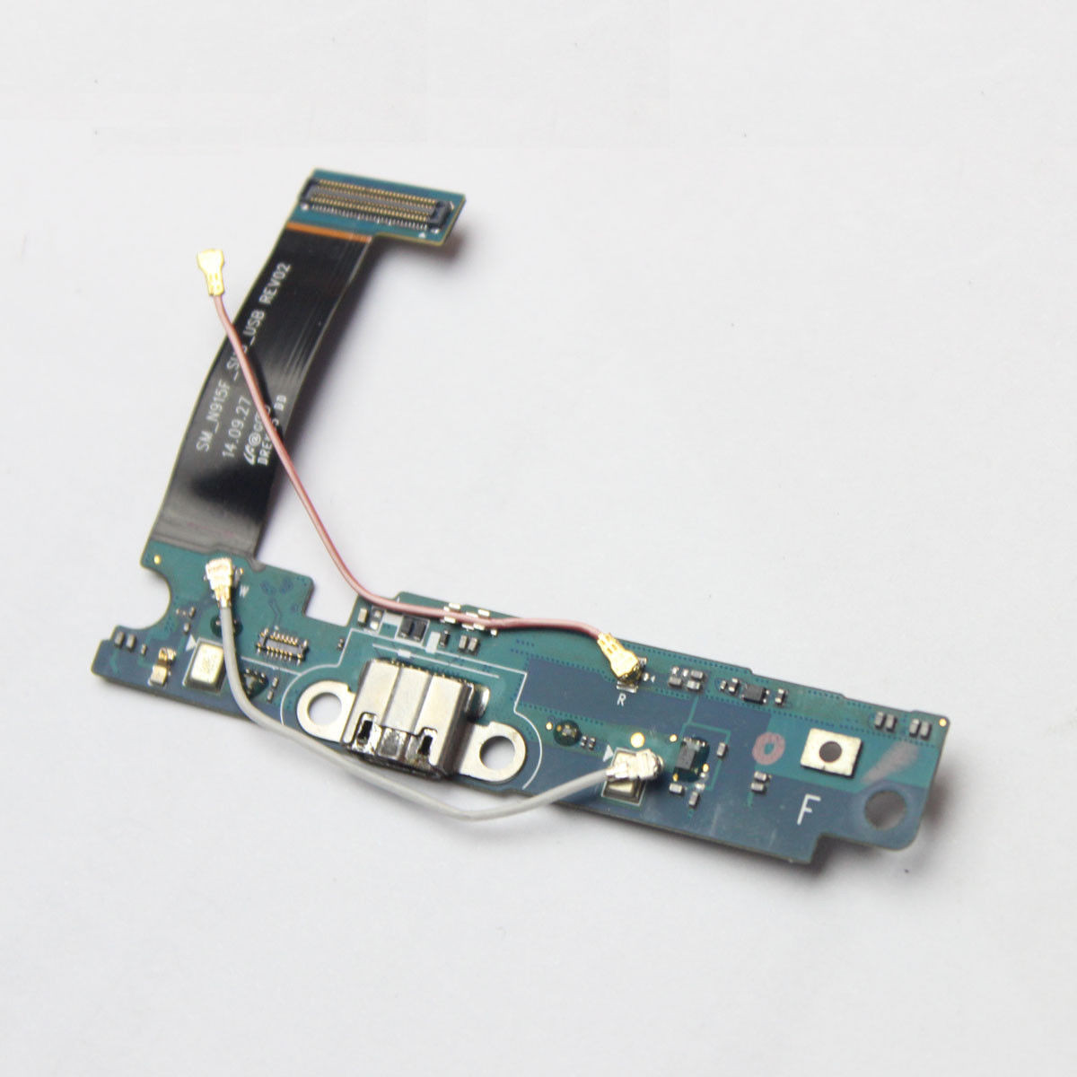 0907db4c93d30b ... SAMSUNG SPARE PARTS; SAMSUNG GALAXY NOTE 5 N915F MICRO USB CONNECTOR  FLEX CABLE WITH MICROPHONE. Image 1