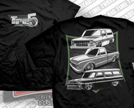 Three trucks