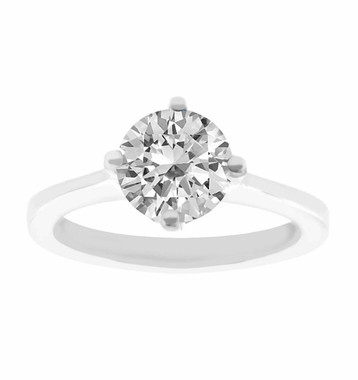 Diamond Solitaire Engagement Ring 14K White Gold 1.01 Carat Certified Gallery Design Ring