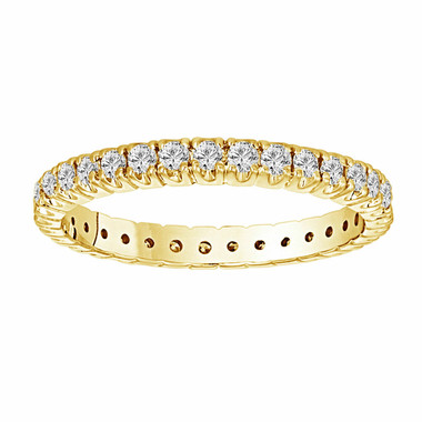 18K Yellow Gold 0.68 Carat Wedding & Anniversary Eternity Diamond Band handmade Stackable