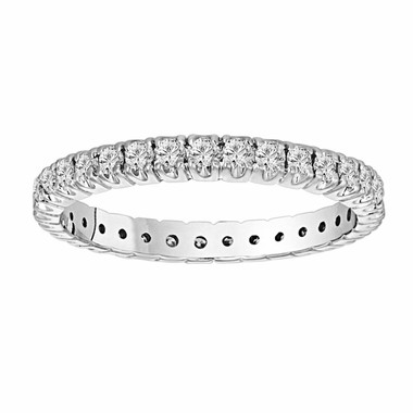 950 Platinum 0.70 Carat Wedding & Anniversary Diamond Eternity Band Stackable handmade
